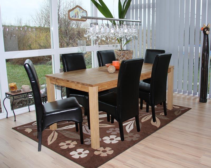 Set 6x sedie latina pelle per sala da pranzo 102x44x44cm for Sedie in pelle per sala da pranzo