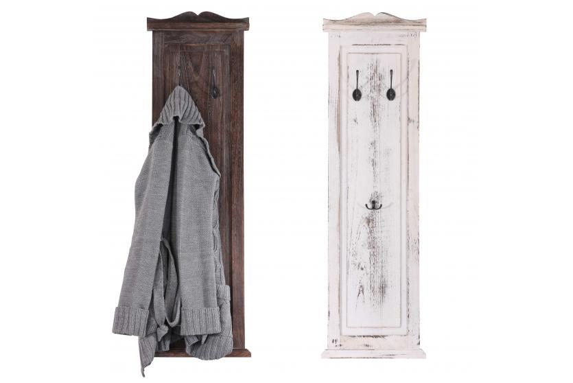 2x garderobe wandgarderobe wandhaken 109x28x3 5cm shabby look vintage braun ebay - Wandhaken vintage ...