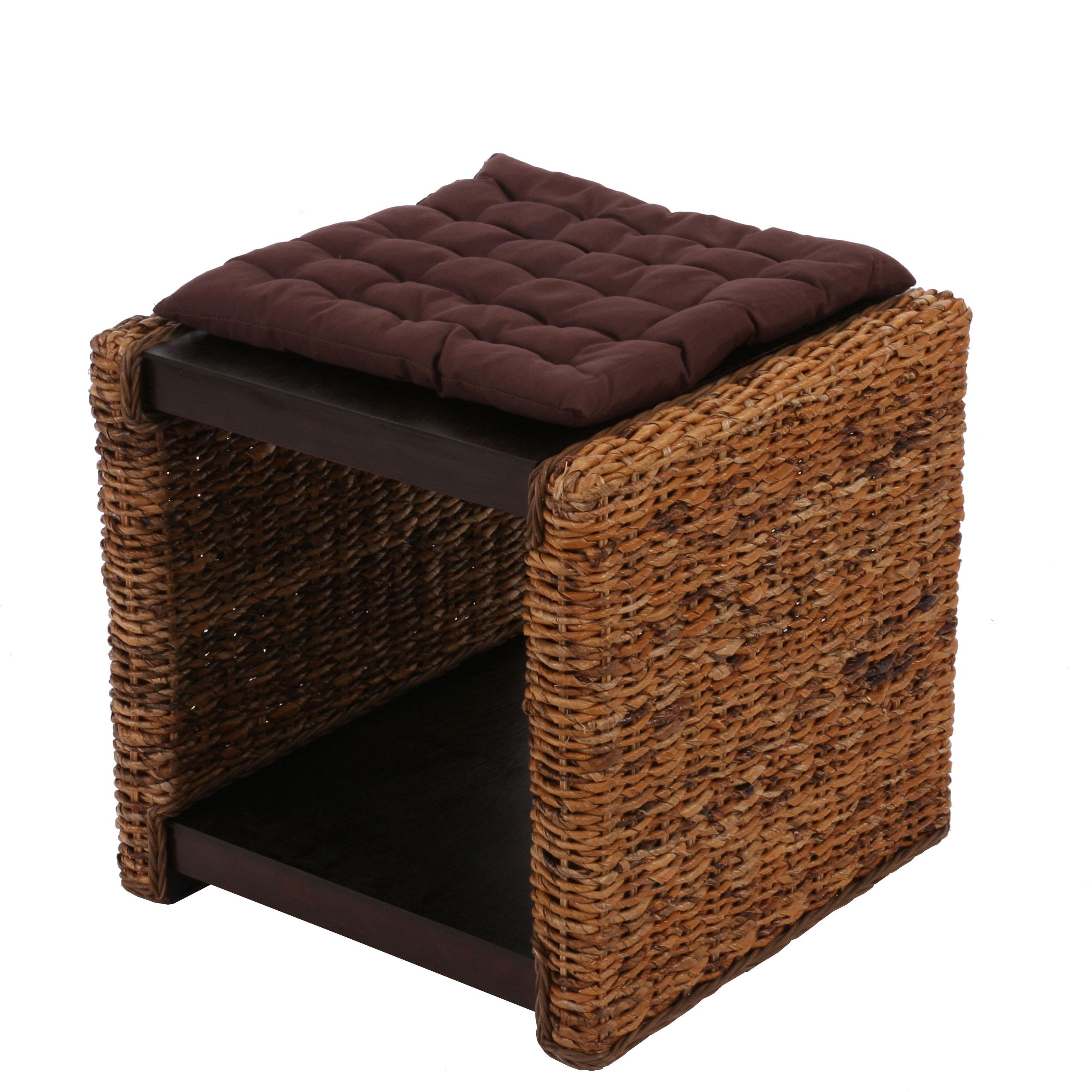 beistelltisch nachttisch sitzhocker lucca rattan. Black Bedroom Furniture Sets. Home Design Ideas