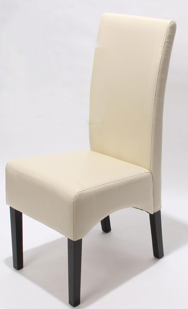 2x esszimmerstuhl lehnstuhl stuhl crotone leder creme dunkle beine. Black Bedroom Furniture Sets. Home Design Ideas