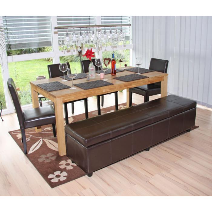 garnitur sitzgruppe bank mit aufbewahrung kriens xxl 4 st hle littau leder braun. Black Bedroom Furniture Sets. Home Design Ideas