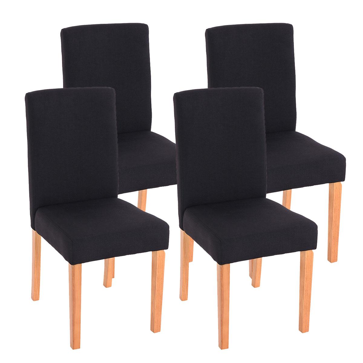 4x esszimmerstuhl stuhl lehnstuhl littau textil schwarz for Stuhl 4 beine