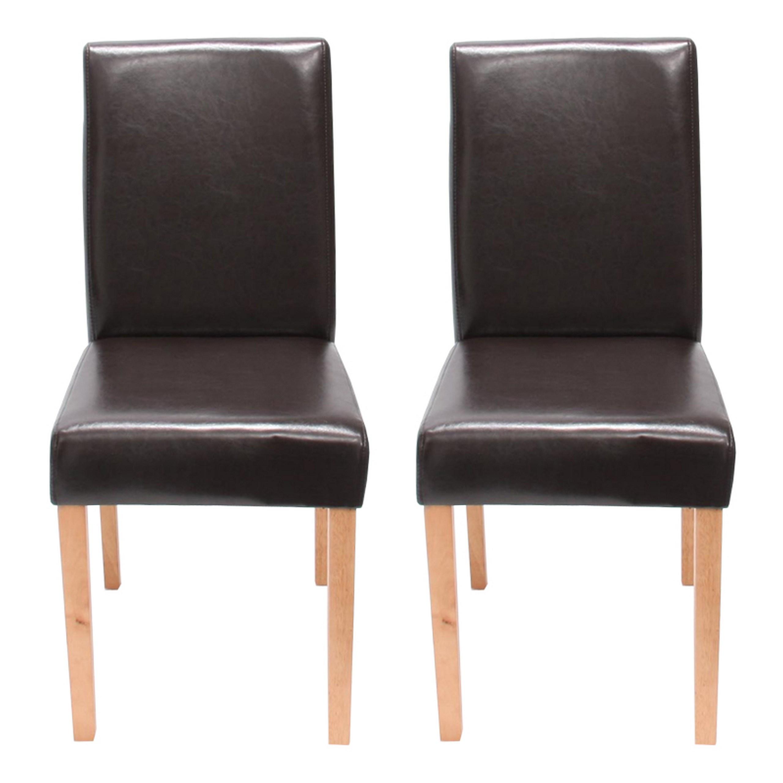 Stuhl 6x Littau LederBraunHelle Beine Küchenstuhl ~ Esszimmerstuhl qVpSzMU