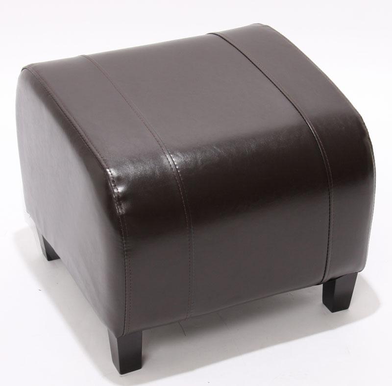 hocker sitzw rfel sitzhocker emmen leder 37x45x47 cm braun. Black Bedroom Furniture Sets. Home Design Ideas