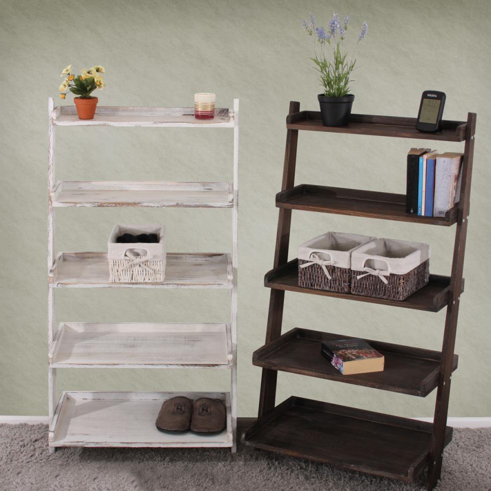 regal pflanzregal blumenst nder standregal shabby look. Black Bedroom Furniture Sets. Home Design Ideas