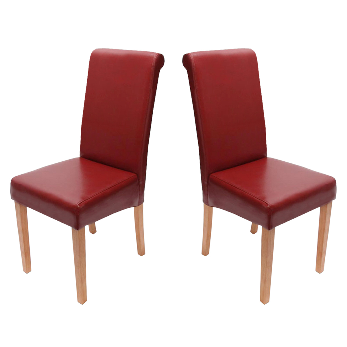 2x esszimmerstuhl stuhl novara ii leder schwarz creme wei rot braun grau ebay. Black Bedroom Furniture Sets. Home Design Ideas