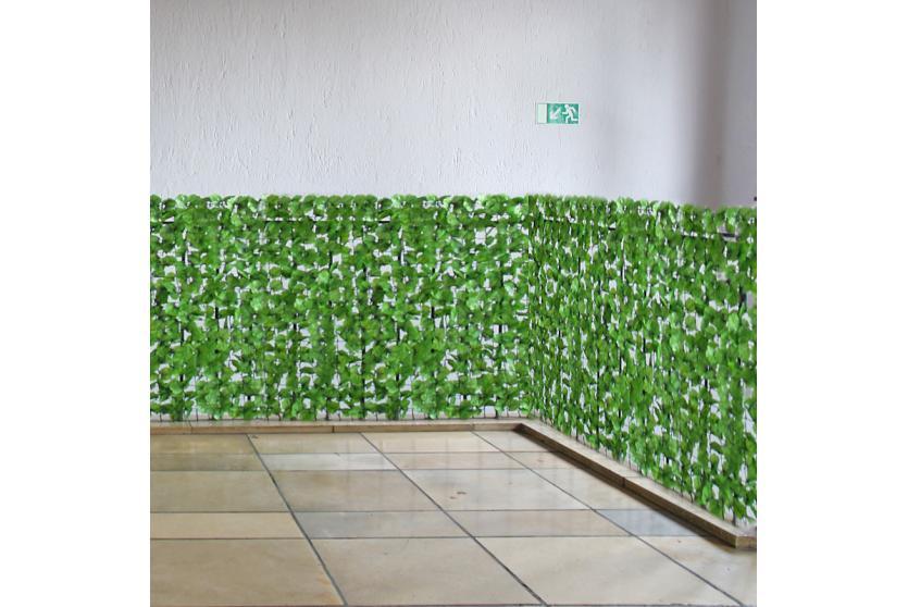 Sichtschutz Windschutz für Balkon Terrasse Zaun Blatt hell 300 x 150 cm