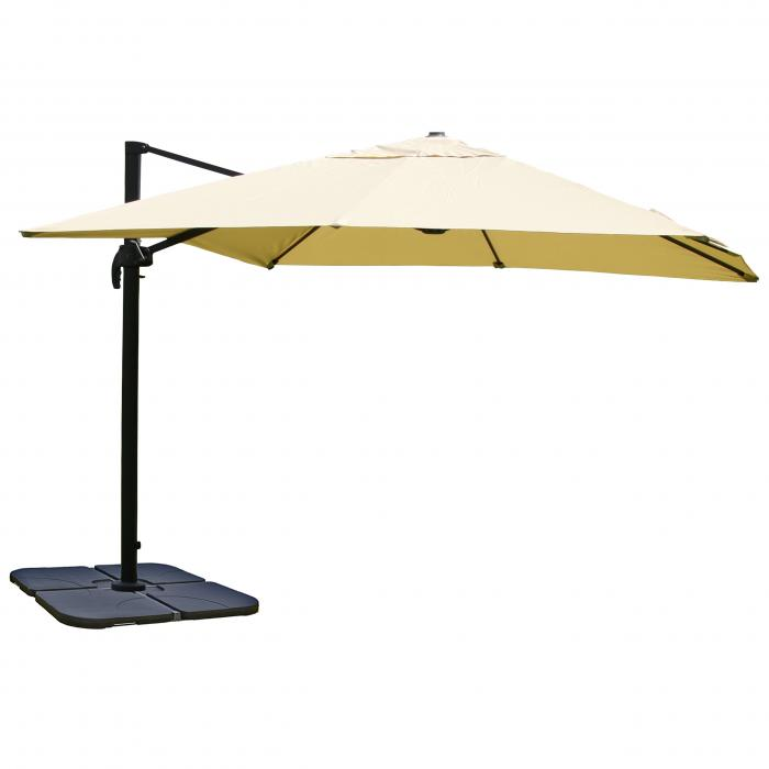 gastronomie ampelschirm n22 sonnenschirm 3x3m 4 24m polyester alu stahl 23kg creme mit. Black Bedroom Furniture Sets. Home Design Ideas