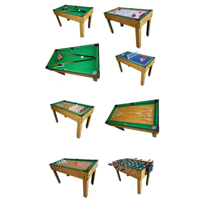 Tischfußball Billard Hockey 9in1 Multiplayer