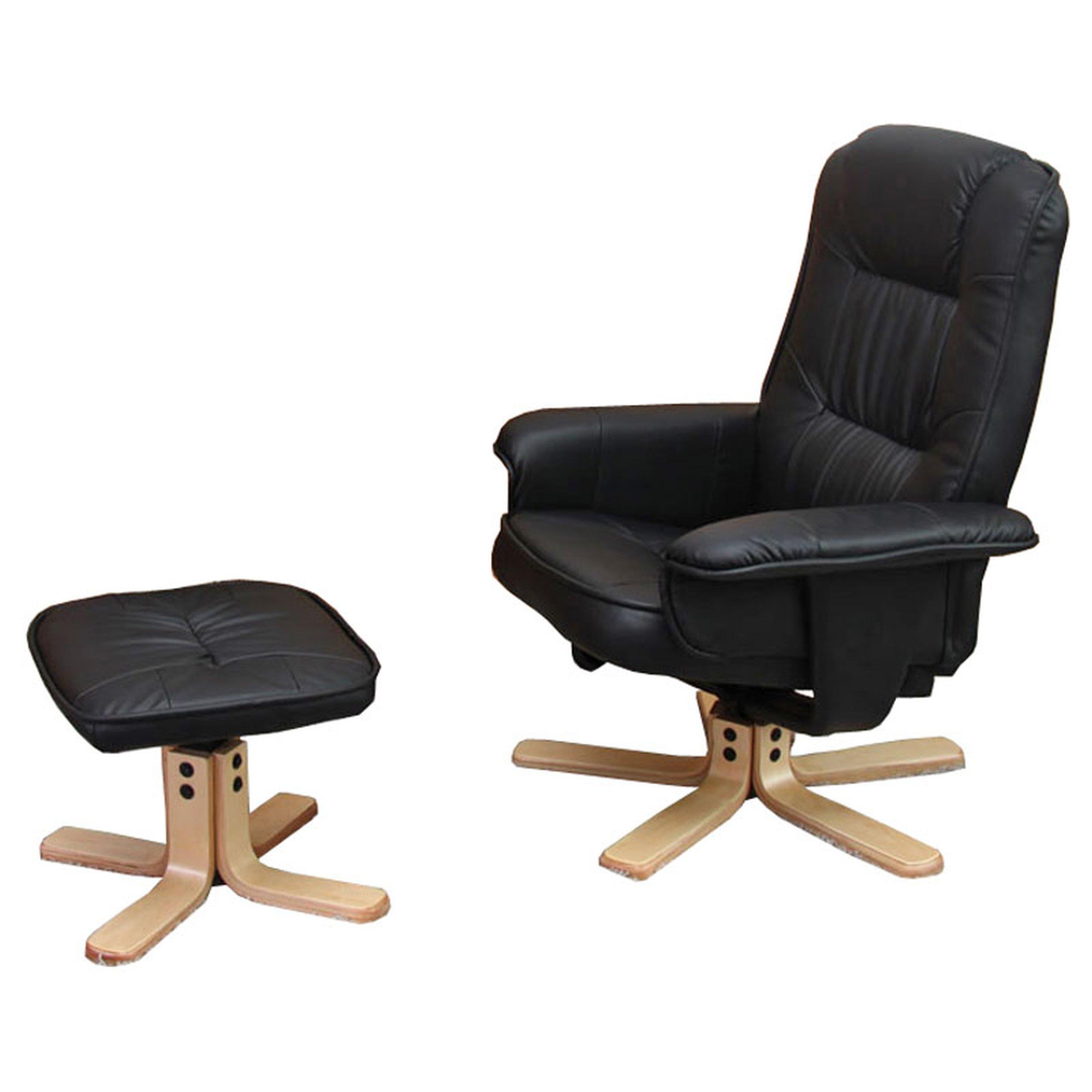 relaxsessel m56 fernsehsessel sessel optional mit ohne hocker kunstleder ebay. Black Bedroom Furniture Sets. Home Design Ideas