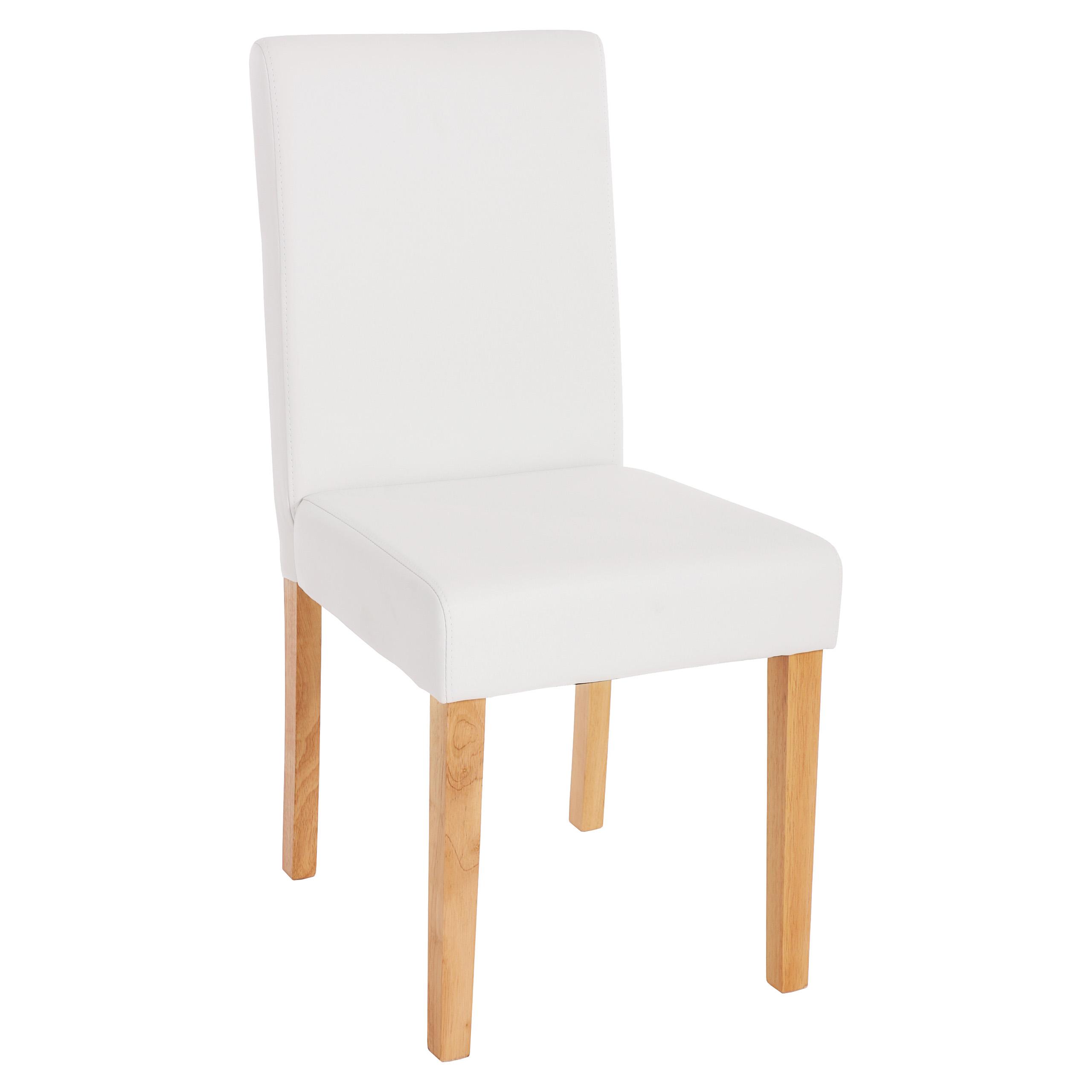 4x esszimmerstuhl stuhl lehnstuhl littau kunstleder wei matt helle beine. Black Bedroom Furniture Sets. Home Design Ideas