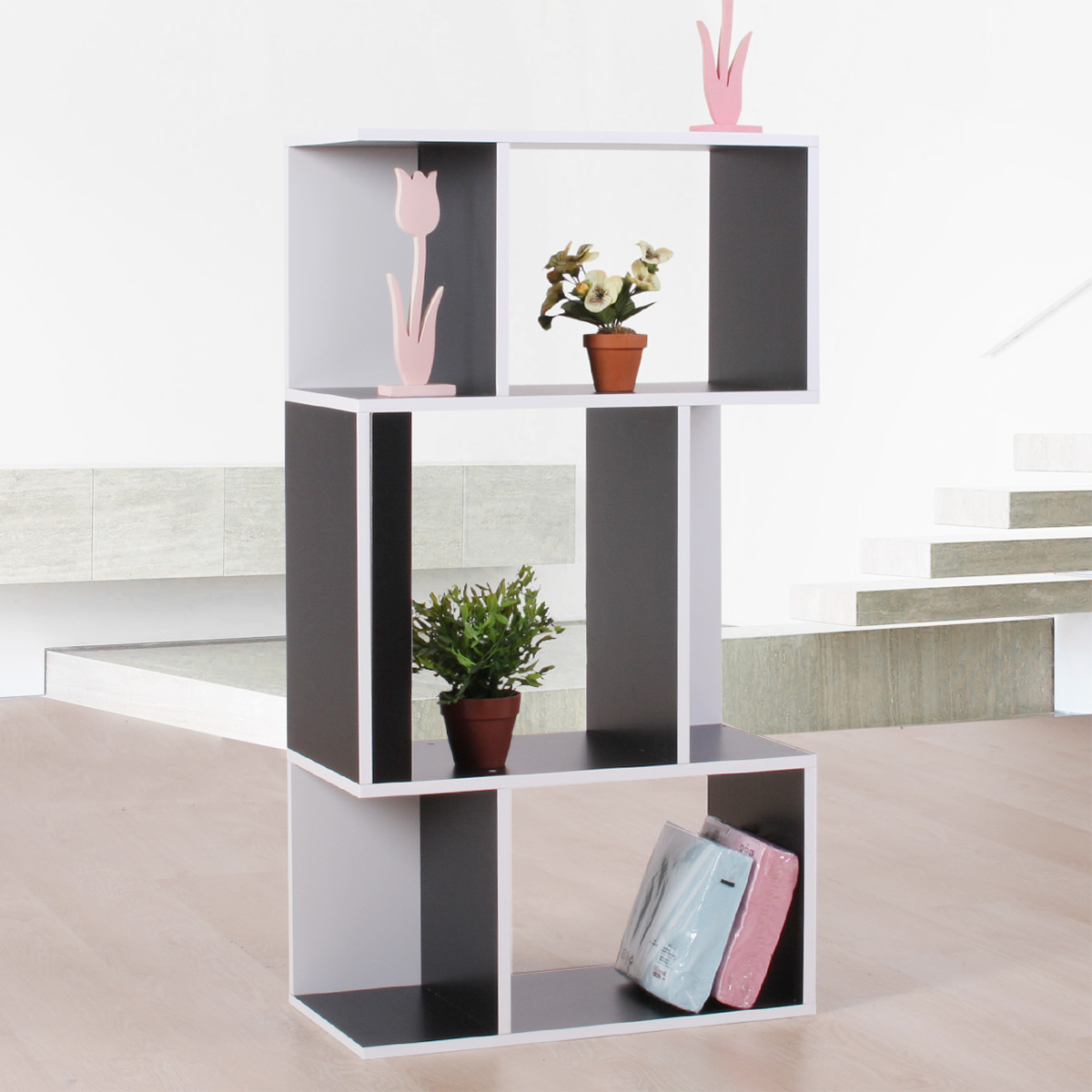 standregal b cherregal regal aus holz 109x59x30 cm schwarz. Black Bedroom Furniture Sets. Home Design Ideas