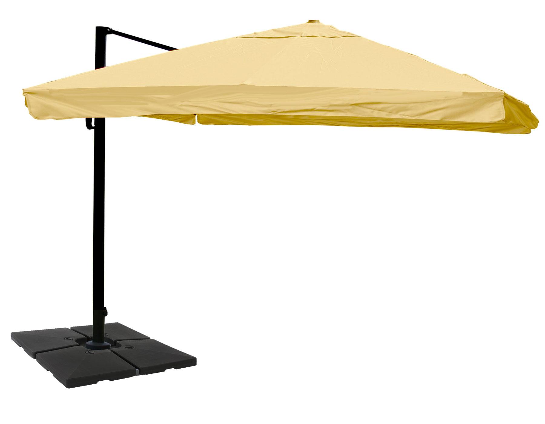 gastronomie ampelschirm hwc a96 sonnenschirm 3x4m 5m polyester alu 26kg flap creme mit. Black Bedroom Furniture Sets. Home Design Ideas