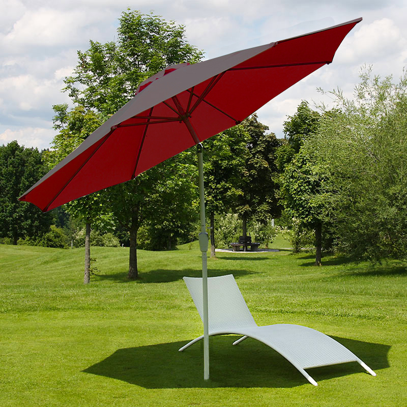 Aluminum parasol garden umbrella 300cm n19 inclinable rust free red ebay - Parasol rectangulaire inclinable castorama ...