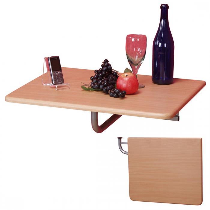 Klapptisch wand regal  Wandtisch H125, Klapptisch Tisch Wandregal, 60x50cm