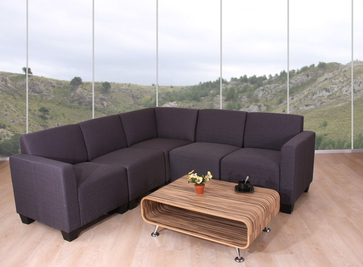 modular sofa couch system lyon textil anthrazit ebay. Black Bedroom Furniture Sets. Home Design Ideas
