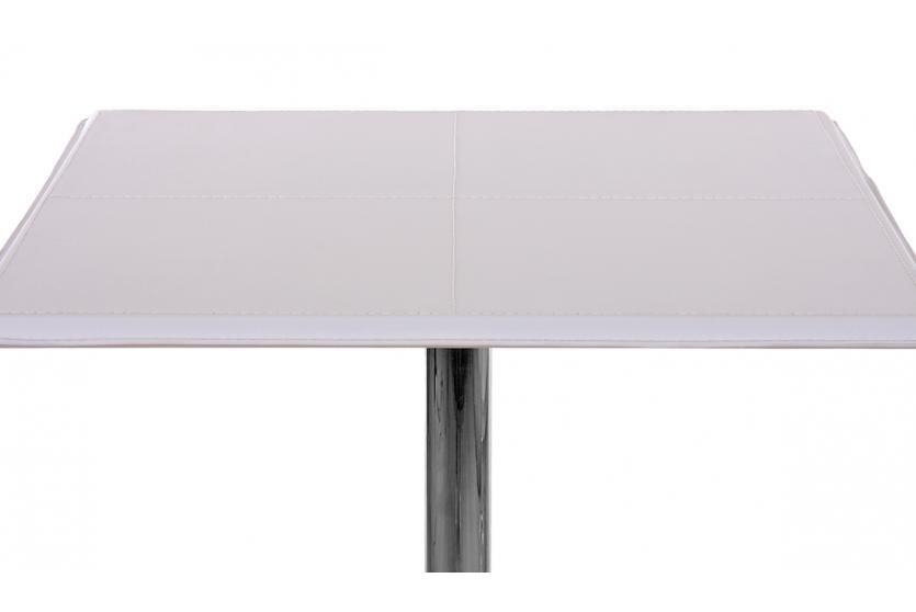 bartisch stehtisch bistrotisch chicago mit fu ablage pvc quadratisch 110x63x63cm wei. Black Bedroom Furniture Sets. Home Design Ideas