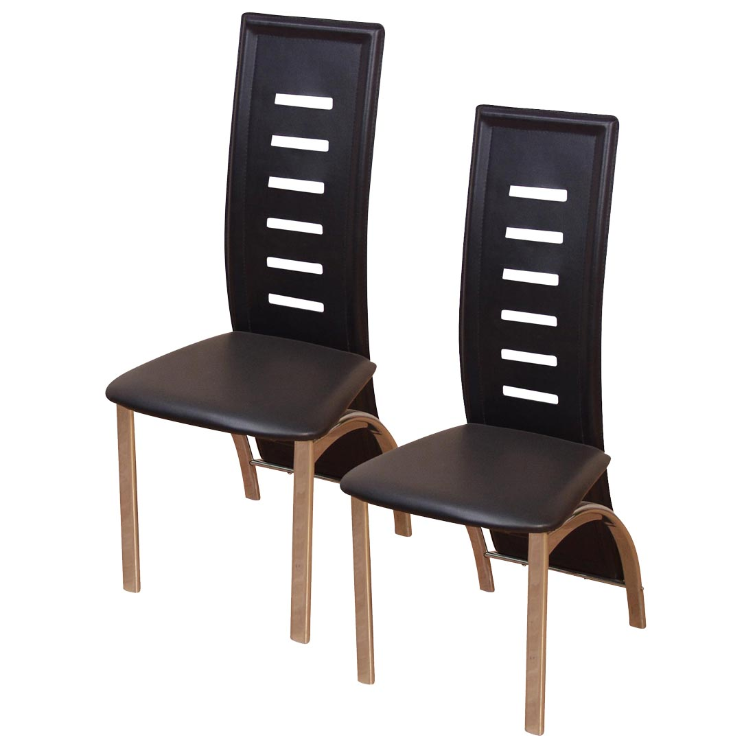 2x esszimmerstuhl h126 stuhl lehnstuhl kunstleder schwarz. Black Bedroom Furniture Sets. Home Design Ideas