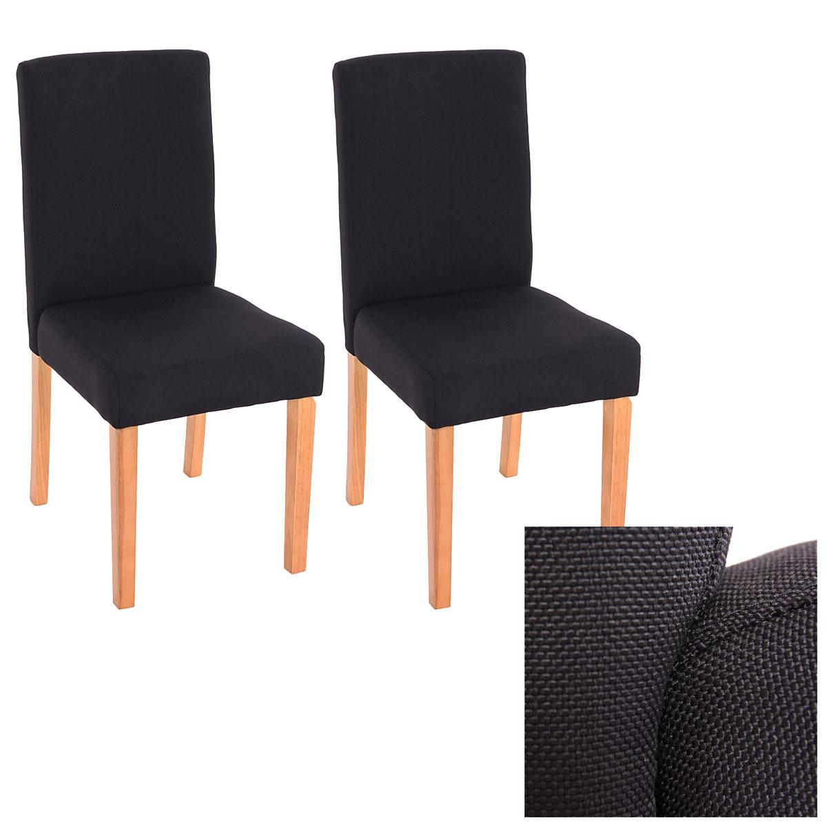 Set 2x sedie littau tessuto per sala da pranzo 43x56x90cm - Sedie per sala da pranzo ...