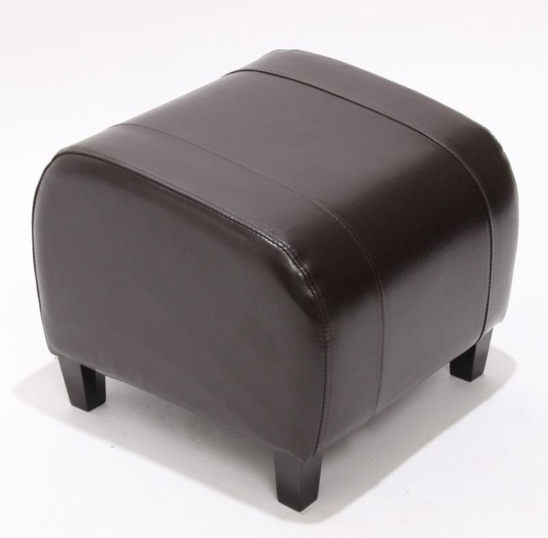 hocker sitzw rfel sitzhocker emmen leder 37x45x47cm schwarz braun rot ebay. Black Bedroom Furniture Sets. Home Design Ideas