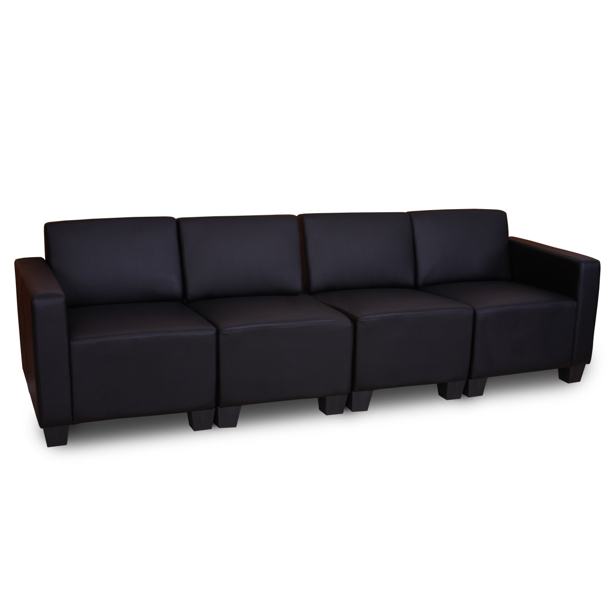 modular 4 sitzer sofa couch lyon kunstleder rot schwarz. Black Bedroom Furniture Sets. Home Design Ideas