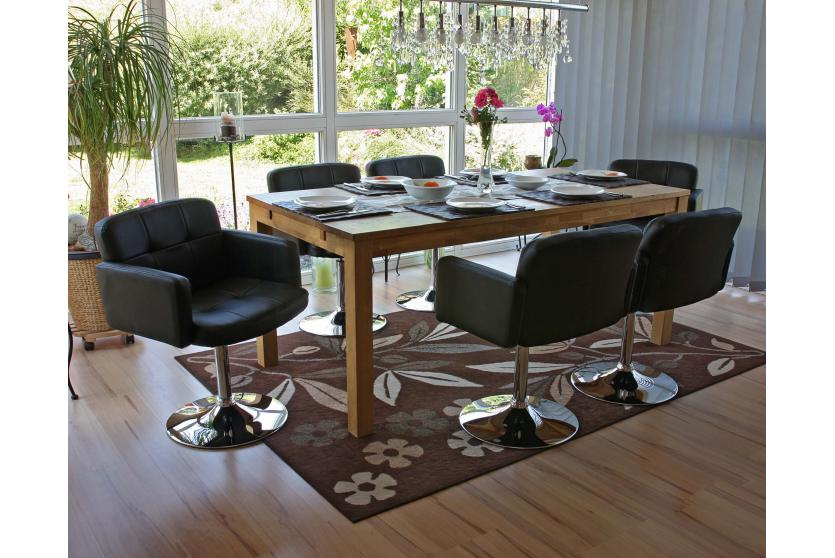 esszimmerstuhl drehstuhl stuhl orlando kunstleder chrom schwarz. Black Bedroom Furniture Sets. Home Design Ideas