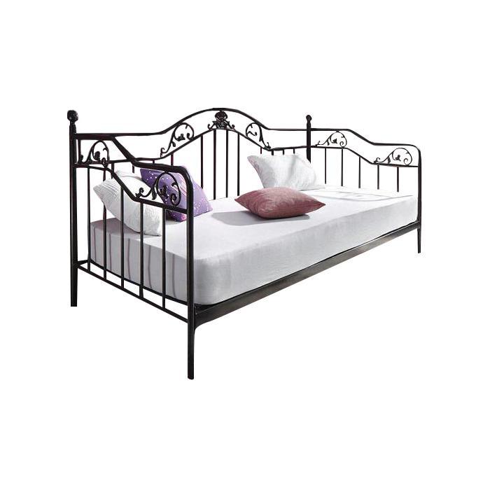 Bett H134 Gastebett Day Bed Metall Pulverbeschichtet Mit