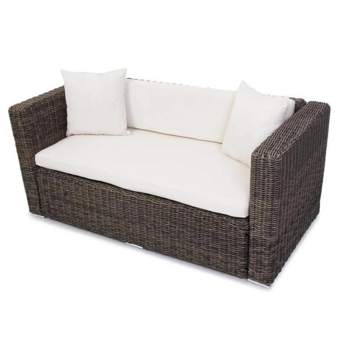 luxus poly rattan alu sofa garnitur romv 2 2 sessel grau rundes rattan. Black Bedroom Furniture Sets. Home Design Ideas