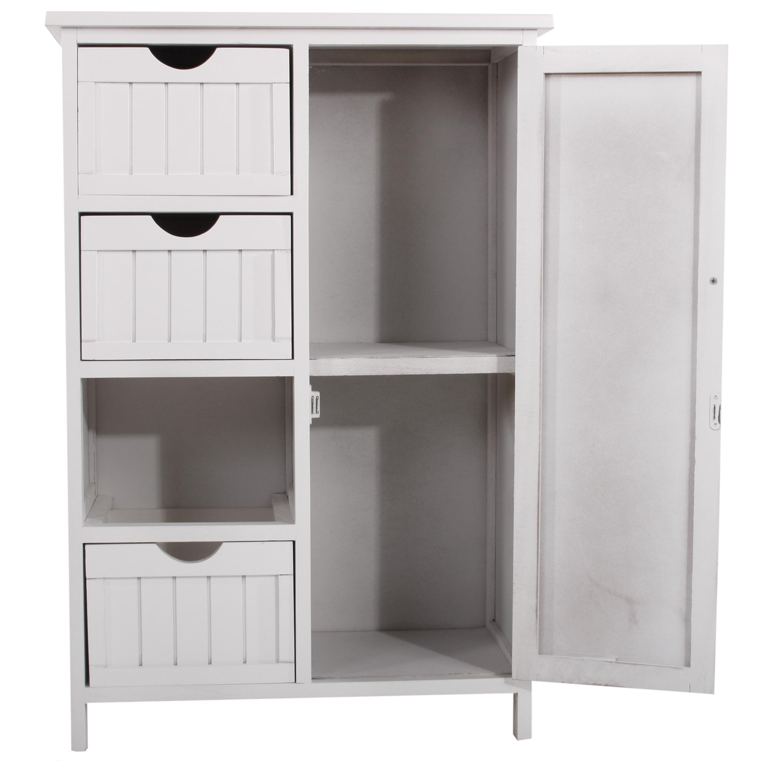 85 kommode schrank regal beistelltisch lausanne weiss mit schubladen hasena woodline. Black Bedroom Furniture Sets. Home Design Ideas
