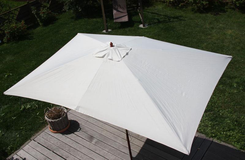 Großartig Sonnenschirm Gartenschirm Marktschirm Florida, rechteckig 2x3m ~ creme YX59