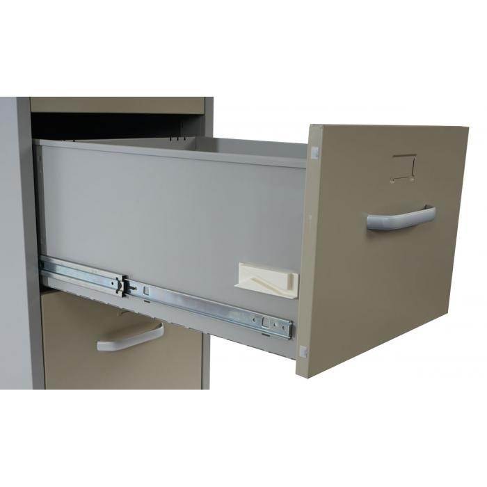 Boston T239, Aktenschrank Büroschrank Stahlschrank, 103x46x62cm ~ grau