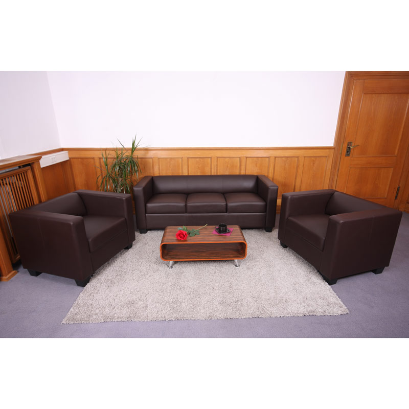 3 1 1 sofagarnitur couchgarnitur loungesofa kunstleder leder mikrofaser textil ebay. Black Bedroom Furniture Sets. Home Design Ideas