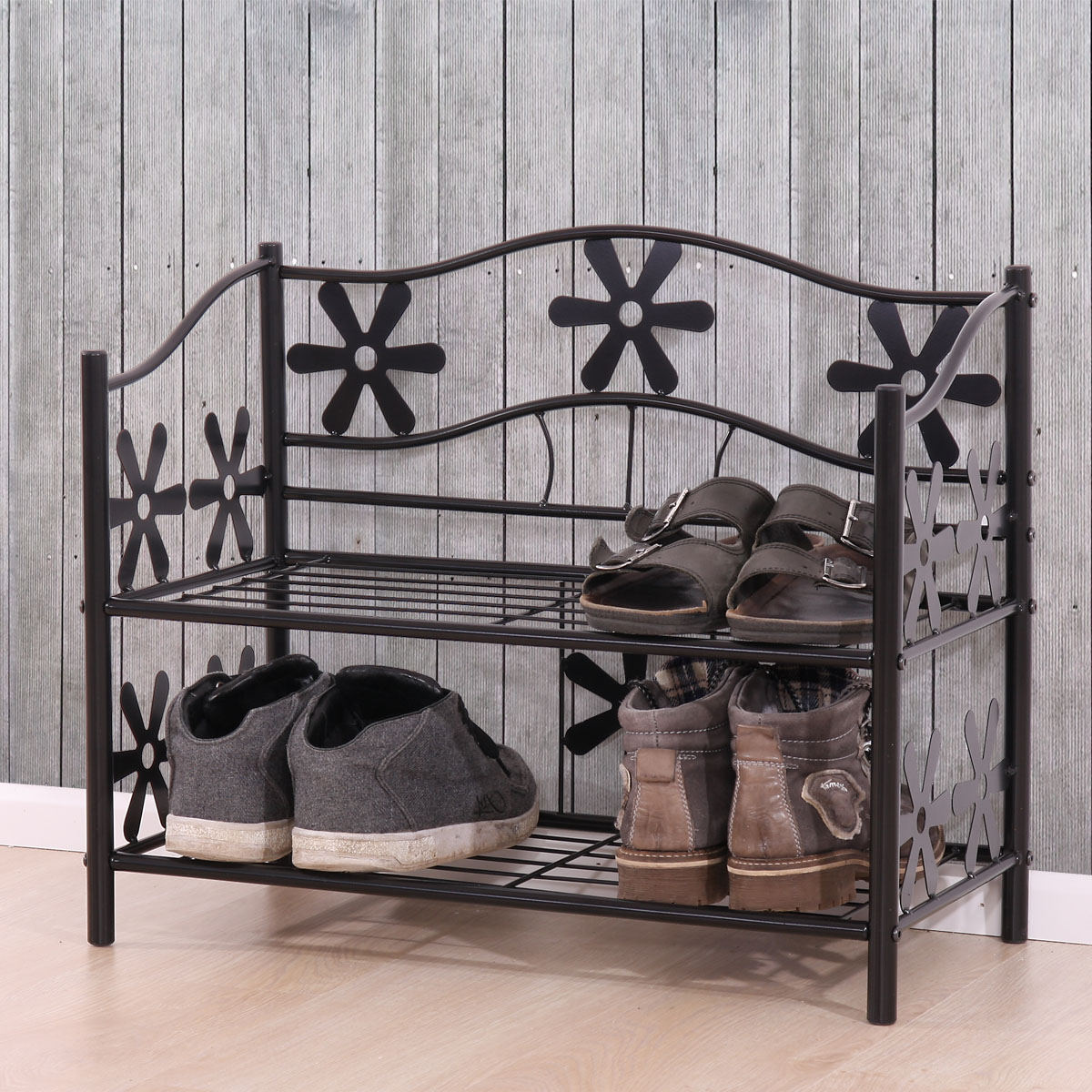 regal metall b cherregal schuhregal standregal genf 2 b den h he 50cm. Black Bedroom Furniture Sets. Home Design Ideas