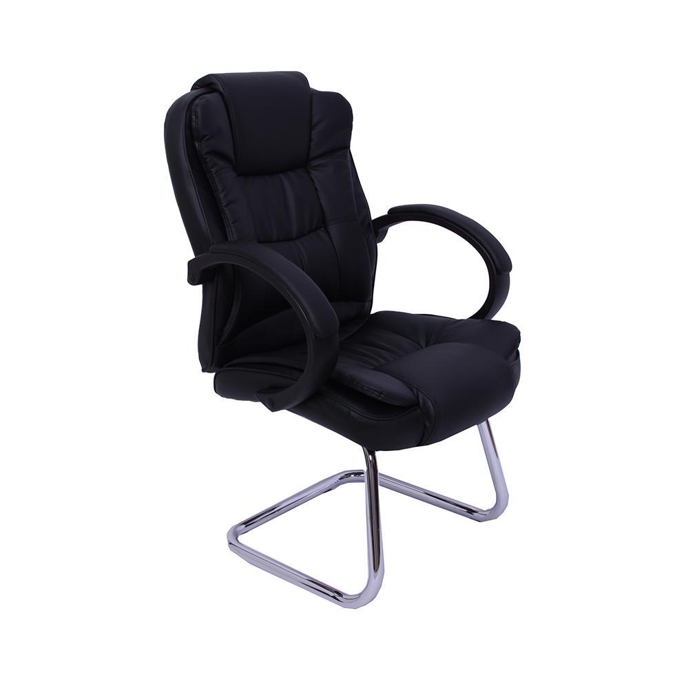 Conferenza sedia cantilever sedia da ufficio poltrona direzionale n66 cuoio ebay - Sedia cantilever ...