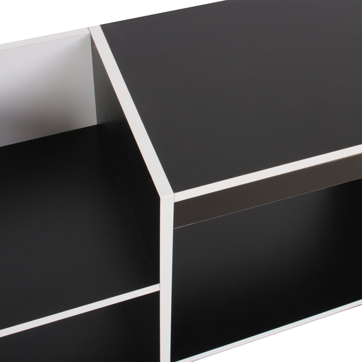tv rack fernsehtisch standregal aus holz 109x59x30 cm wei. Black Bedroom Furniture Sets. Home Design Ideas