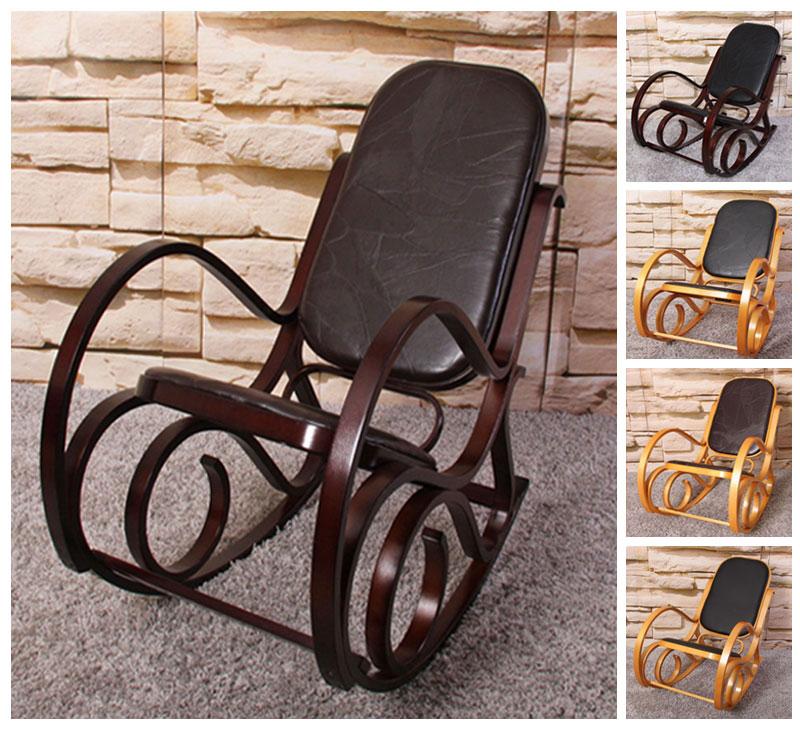 schaukelstuhl schwingsessel m41 mit patchwork leder ebay. Black Bedroom Furniture Sets. Home Design Ideas
