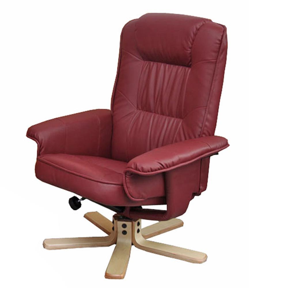 relaxsessel fernsehsessel sessel ohne hocker m56 kunstleder bordeaux. Black Bedroom Furniture Sets. Home Design Ideas