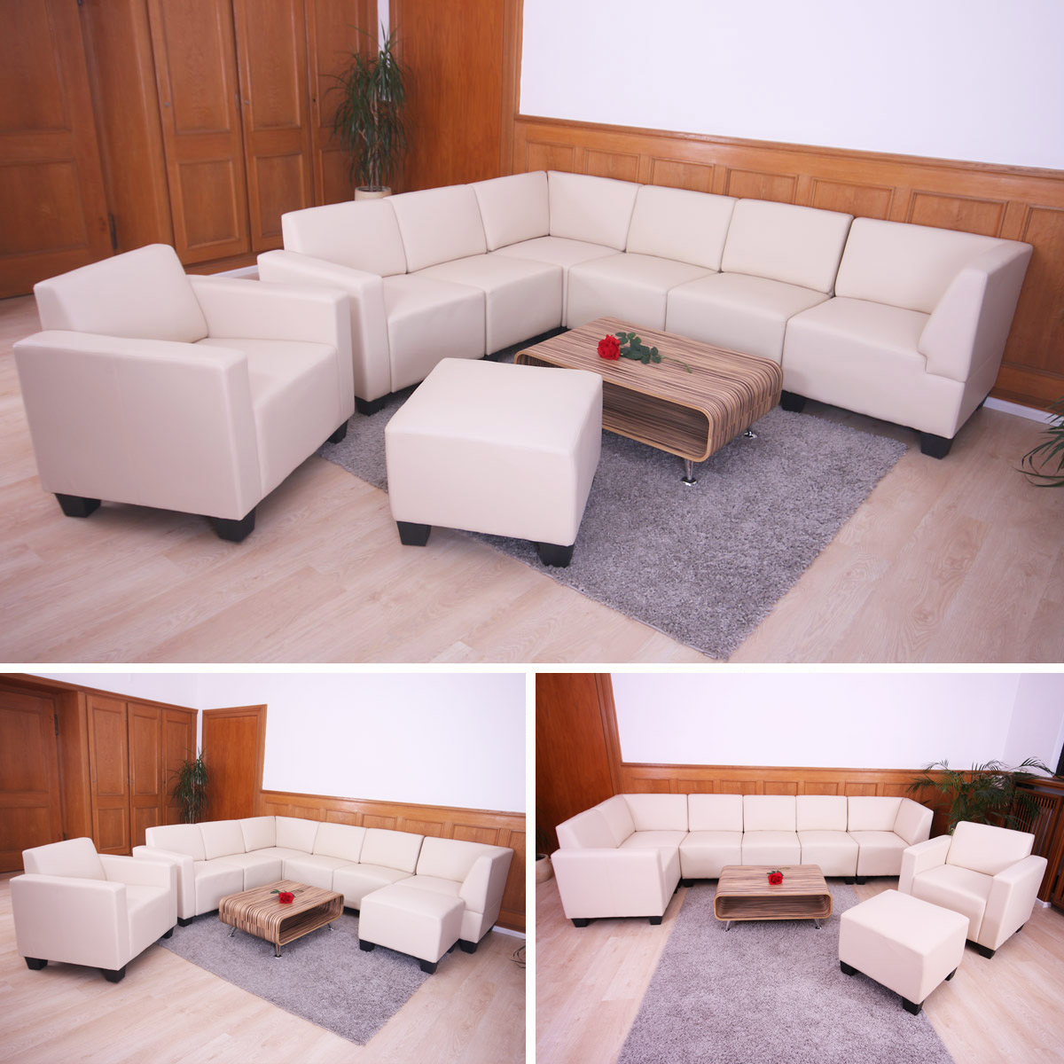 Modular sofa system couch garnitur lyon 6 1 1 kunstleder for Couch garnitur