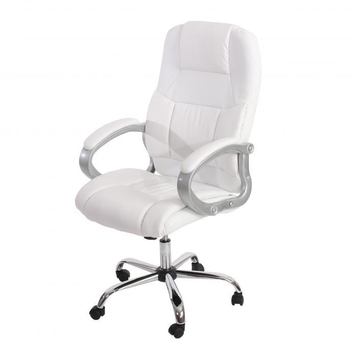Bürostuhl weiß  Bürostuhl Boston XXL Chefsessel Drehstuhl US-Version, 150kg ...