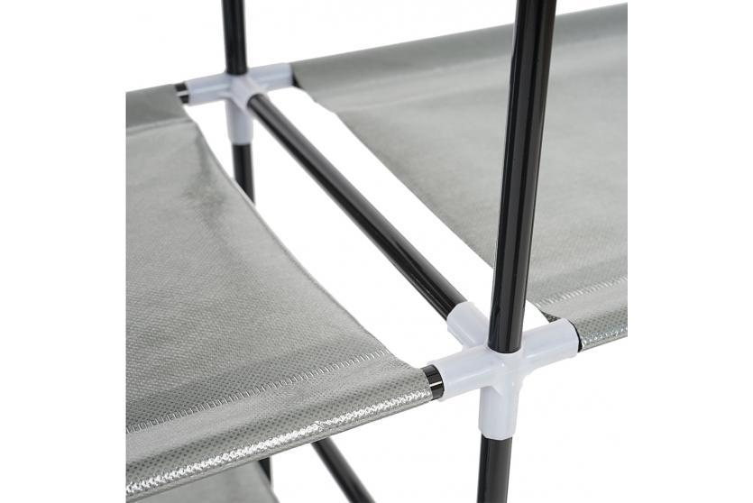 regal schuhregal faltschrank campingschrank stoffschrank 107x114x28cm rot. Black Bedroom Furniture Sets. Home Design Ideas