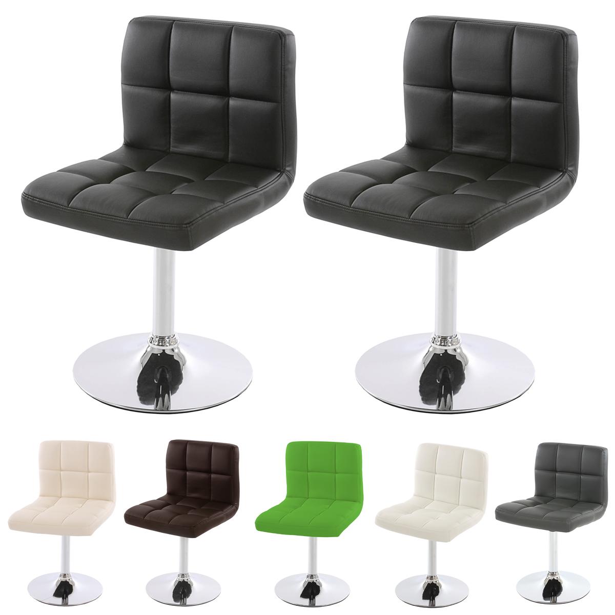 2x esszimmerstuhl drehstuhl kavala kunstleder schwarz creme wei grau braun ebay. Black Bedroom Furniture Sets. Home Design Ideas