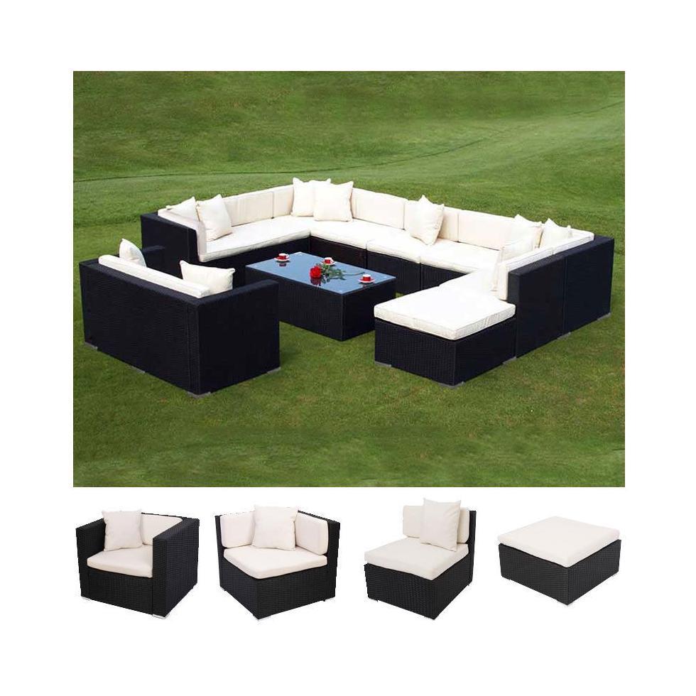 Modulares poly rattan alu sofa romv anthrazit ebay - Modulares kochen ...