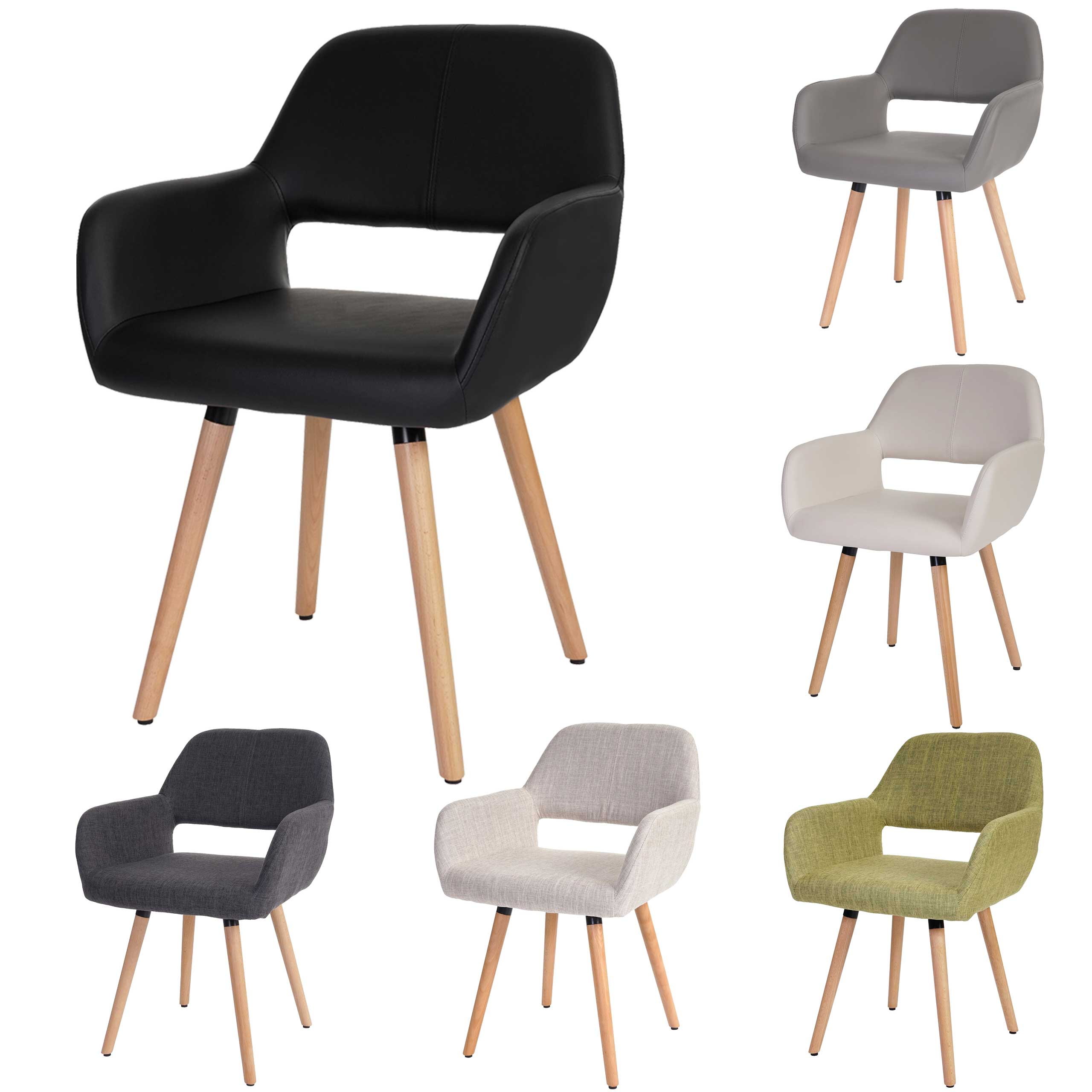 Mendler Esszimmerstuhl HWC-A50 II, Stuhl Küchenstuhl, Retro 50er Jahre Design ~ Variantenangebot 48432