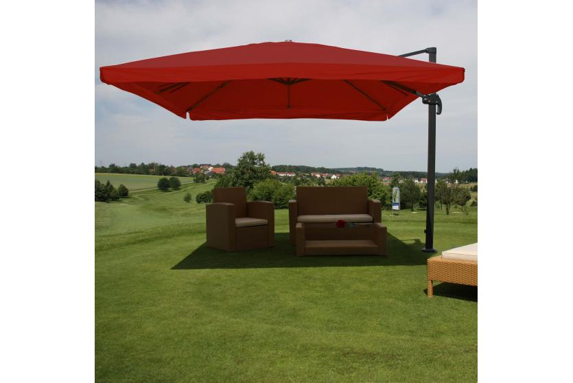 gastronomie ampelschirm n22 sonnenschirm 3x4m 5m polyester alu 26kg flap bordeaux ohne. Black Bedroom Furniture Sets. Home Design Ideas