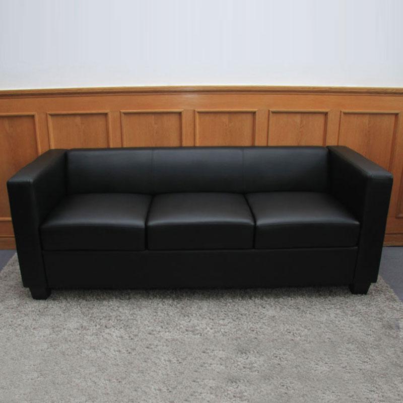 3er sofa couch loungesofa lille leder kunstleder mikrofaser textil ebay. Black Bedroom Furniture Sets. Home Design Ideas