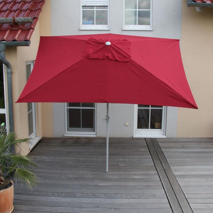 Sonnenschirm N23 Gartenschirm 2x3m Rechteckig Neigbar Polyester