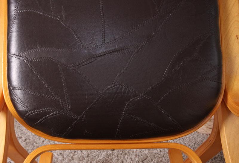 Schaukelstuhl schwingsessel m41 aus holz eiche for Schaukelstuhl aus leder