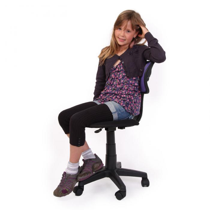 Schreibtischstuhl ergonomisch kinder  und Jugend-Bürostuhl Schreibtischstuhl N30 Netzstruktur ~ lila