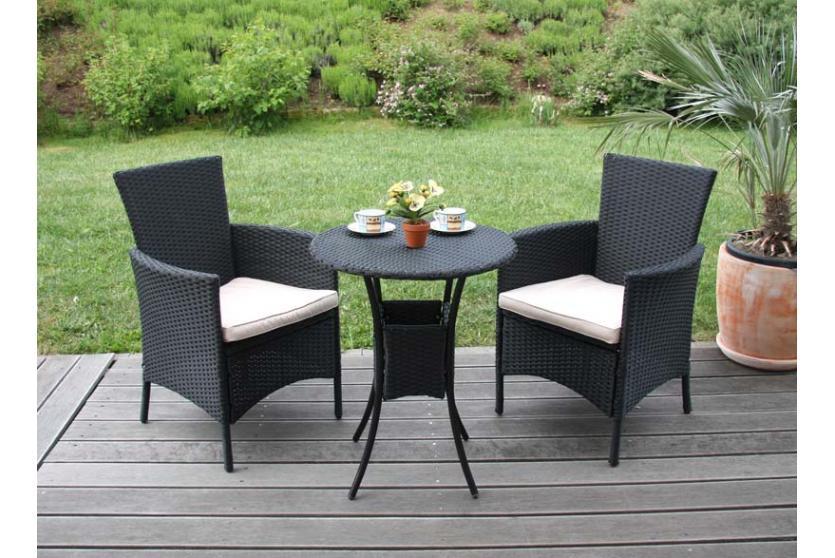 gartensessel korbsessel romv poly rattan alu 85 5x61x60 cm anthrazit. Black Bedroom Furniture Sets. Home Design Ideas