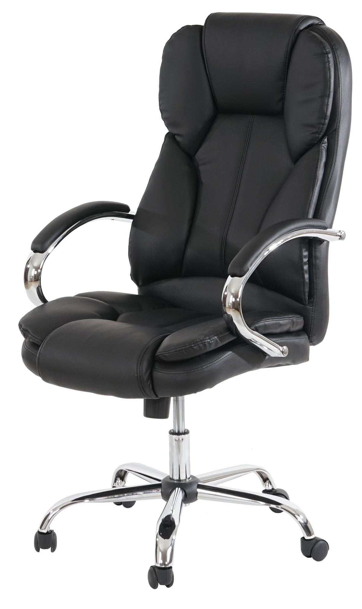 Profi-Bürostuhl Kansas XXL Chefsessel Drehstuhl US-Version, 150kg belastbar, Kunstleder ~ Variantena